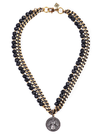 Fredrick Prince Black Onyx Necklace with Medallion