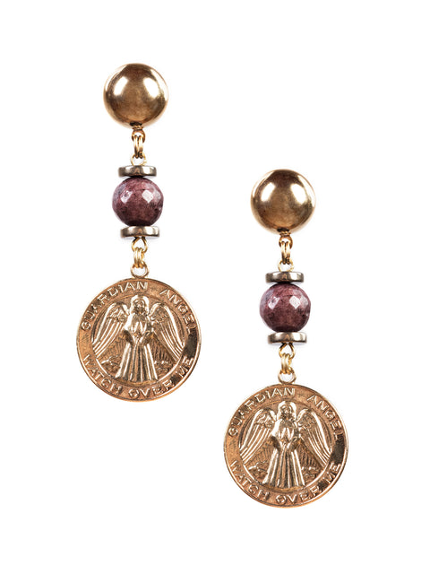La Scala Medallion Earrings