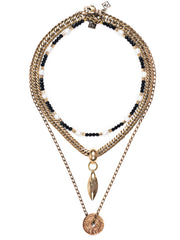 Fredrick Prince Black Onyx Necklace Set