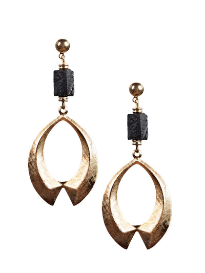 Volterra Black Tourmaline Earrings