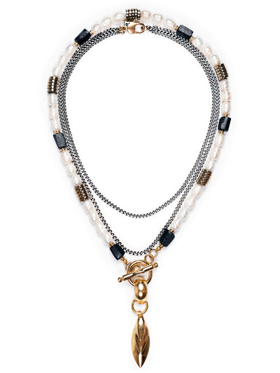 Fredrick Prince Volterra Pearl Toggle Necklace