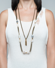 long layered statement necklace with big chain- unique jewellers