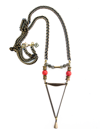 Fredrick Prince Long Necklace with small pendant