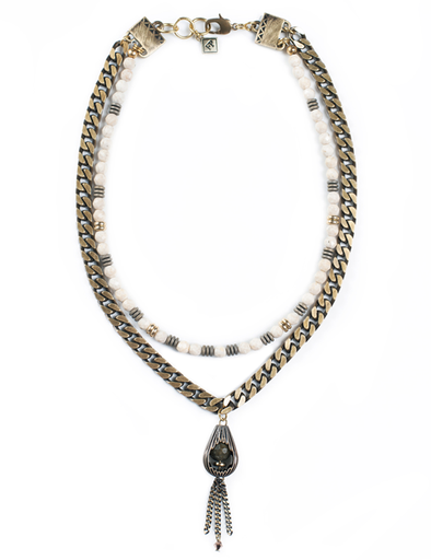 Fredrick Prince Short Layered Necklace with Pendant