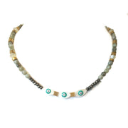 fredrick prince labradorite evil eye necklace with swarovski crystals