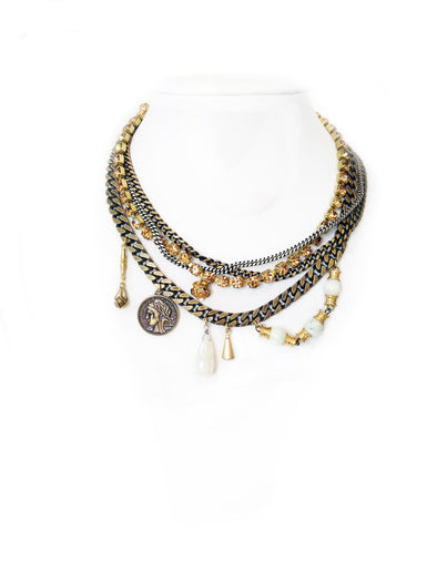 Fredrick Prince Duchess No.2 Statement Necklace with mixed metals