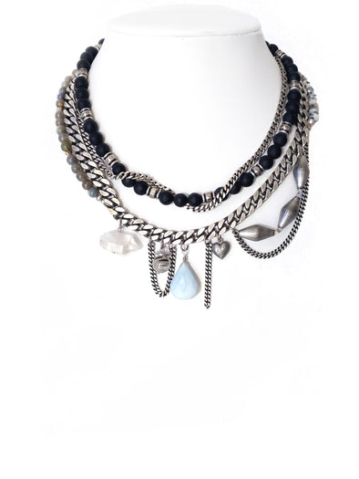 Duchess No.3 Silver Statement Necklace