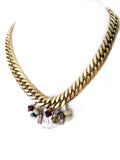 fredrick prince charm cluster statement necklace with big chain