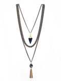 Evangeline Long Layered Chain Necklace