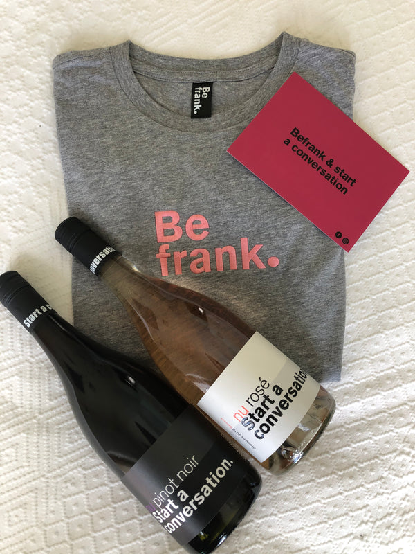 Gift Pack - 2 Bottle Wine Pack (Rosé & Pinot Noir) + BeFrank Tee
