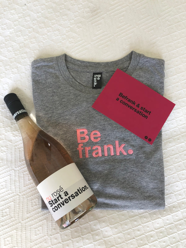 Christmas Gift Pack - Bottle of Rosé + BeFrank Tee