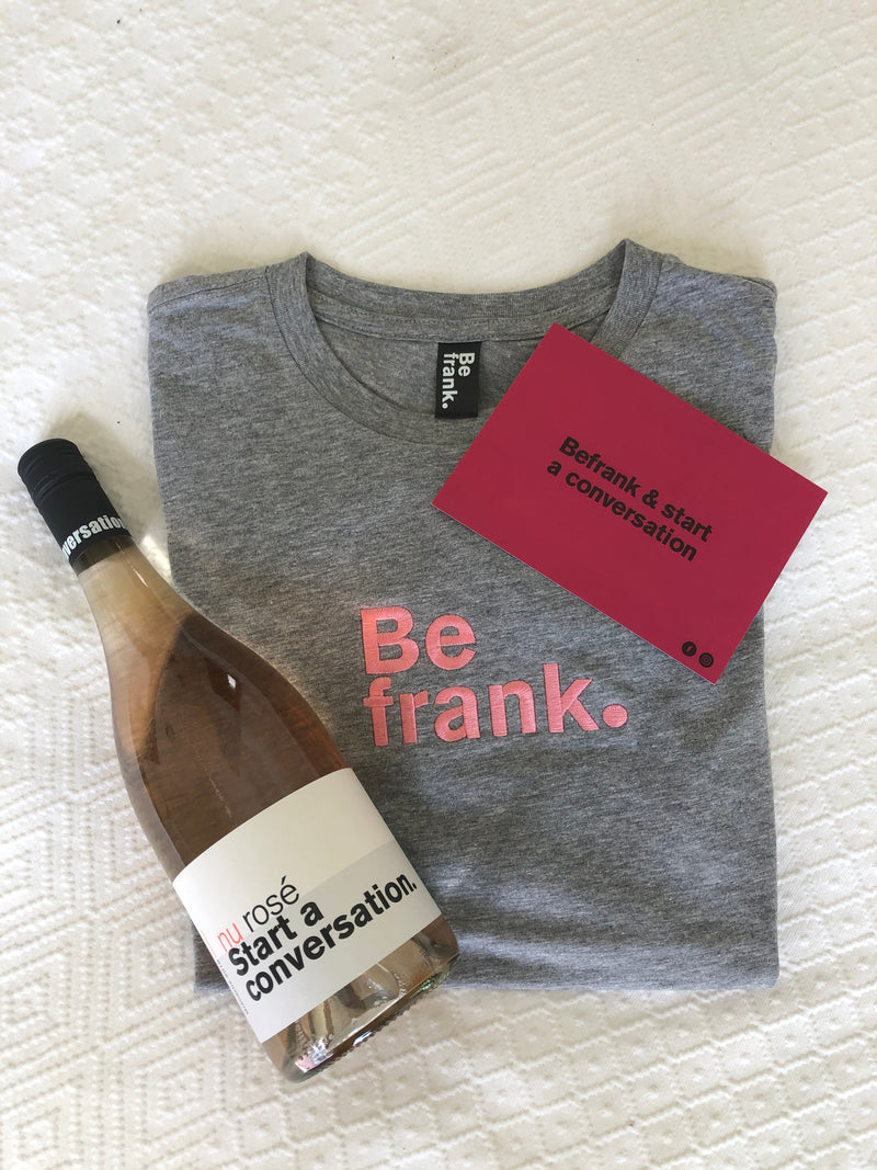 Gift Pack - Bottle of Rosé + BeFrank Tee