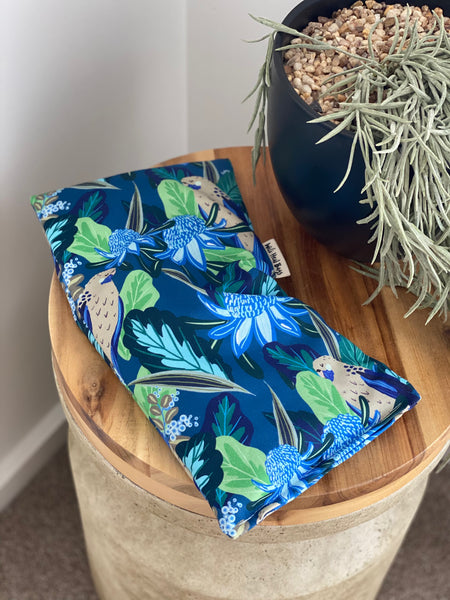 Rectangle Heat Bag - Rosella Waratah Navy  BACK IN STOCK AUGUST