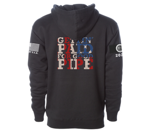 "NEW!! 2020 LIFETIME ""Gettin' Paid For Good Pipe"" Black Hoodie Sweatshirt"