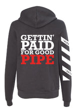 "Load image into Gallery viewer, NEW!! 2019 Fall LIFETIME Premium CHARCOAL ""Gettin' Paid For Good Pipe"" Hoodie Sweatshirt"