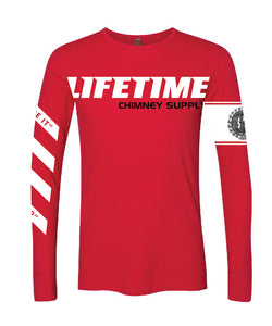 "Fall 2019 LIFETIME ""Gettin' Paid For Good Pipe"" RED Thermal Long Sleeve Shirt"