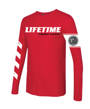 "Load image into Gallery viewer, NEW!! Fall 2019 LIFETIME ""Gettin' Paid For Good Pipe"" RED Thermal Long Sleeve Shirt"