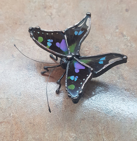 Purple Spotted Swallowtail Statuette