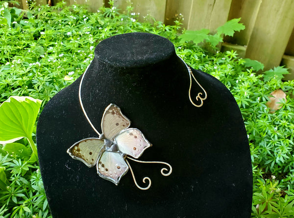 Mother Of Pearl Butterfly Torc