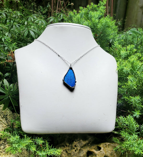 Small Blue Butterfly Necklace