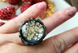 Queens Anne Lace Flower Ring