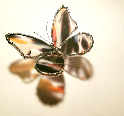 Stained Glass Butterfly Statuette