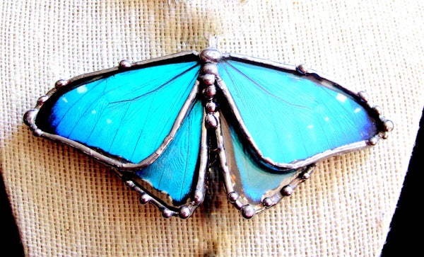 Blue Morpho Silver Plated Necklace, Once Upon A Time
