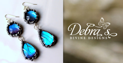 Blue Butterfly Earrings as Seen on Hart of Dixie, Blue Morpho Butterfly