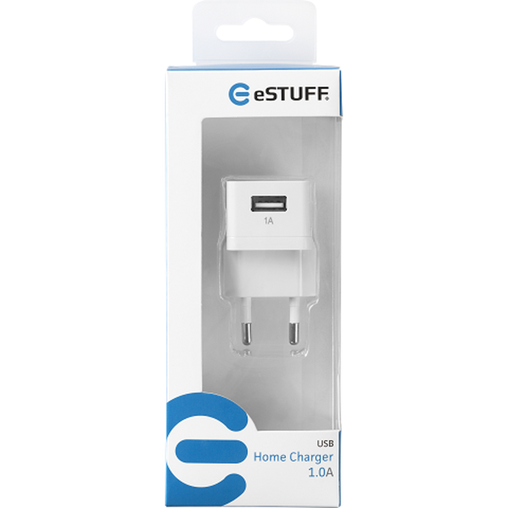 eSTUFF Home Charger 1 USB 1A/5W Seinälaturi-Handle It Online Store