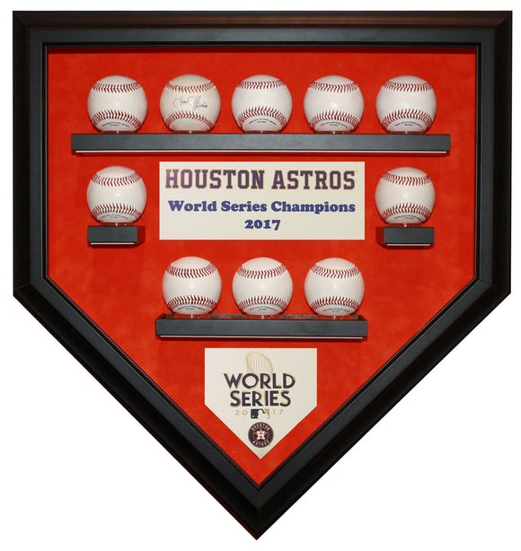 10 Baseball Houston Astros 2017 World Series Homeplate Shaped Display Case