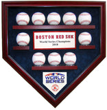 10 Baseball Boston Red Sox 2018 World Series Homeplate Shaped Display Case