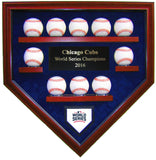 10 Baseball Chicago Cubs 2016 World Series Homeplate Shaped Display Case