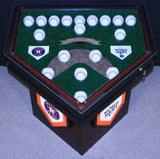 World Series 18 Baseball Homeplate Shaped End Table
