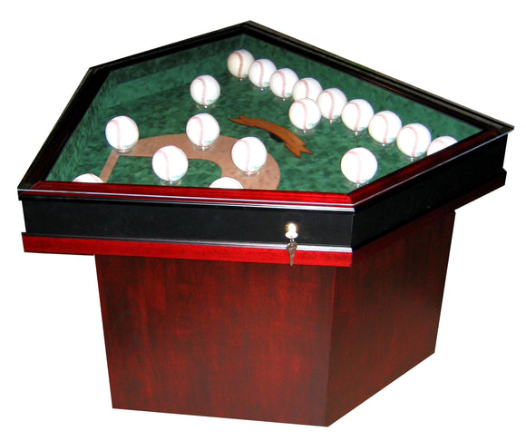 Field of Dreams 18 Baseball Homeplate Shaped End Table