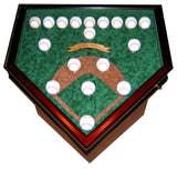 Field of Dreams 18 Baseball Homeplate Shaped End Table Display Case