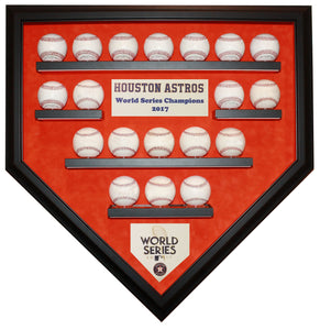 19 Baseball Houston Astros 2017 World Series Homeplate Shaped Display Case