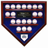 19 Baseball Chicago Cubs 2016 World Series Homeplate Shaped Display Case