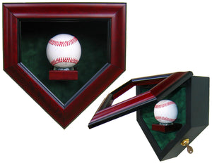 1 Baseball Homeplate Shaped Display Case