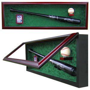 Baseball Bat, Baseball and Card Display Case