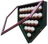 23 Baseball Homeplate Shaped Display Case