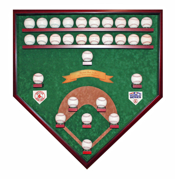 25-29 Baseball Boston Red Sox 2018 World Series Homeplate Shaped Display Case