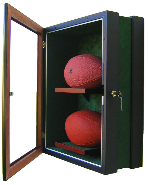 2 Football Display Case