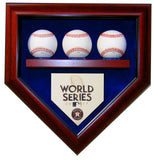 3 Baseball Houston Astros 2017 World Series Homeplate Shaped Display Case