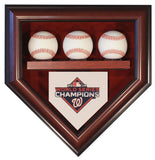 3 Baseball Washington Nationals 2019 World Series Homeplate Shaped Display Case