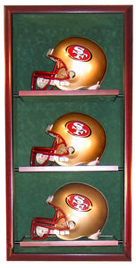 3 Full Size Football Helmet Display Case