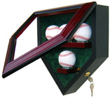 4 Baseball Homeplate Shaped Display Case