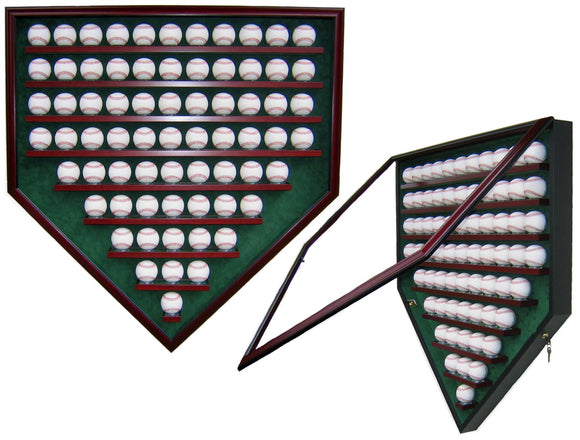 69 Baseball Homeplate Shaped Display Case
