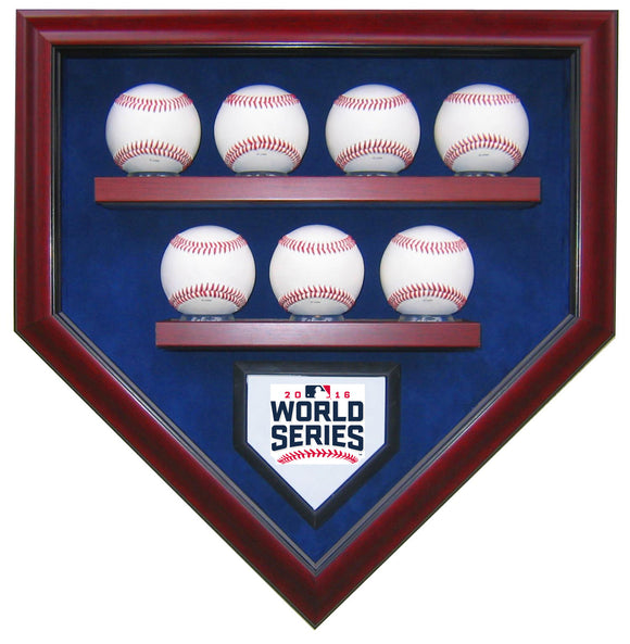 7 Baseball Chicago Cubs 2016 World Series Homeplate Shaped Display Case