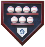 7 Baseball Team Homeplate Shaped Display Case
