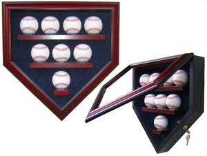8 Baseball Homeplate Shaped Display Case